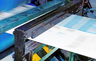 paper running through a printer
