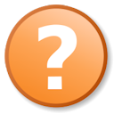 icon of orange circle with a question mark